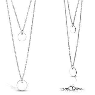 Ocelový náhrdelník s kulatými přívěsky