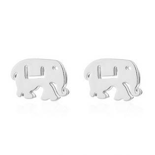 Ocelové náušnice - sloni