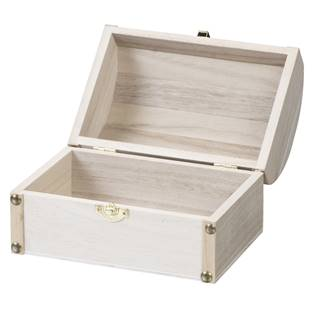 Dřevěná krabička truhla