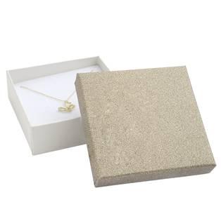 Krabička na soupravu šperků, stříbřitě béžová