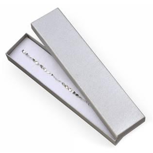 Dárková krabička na náramek - stříbřitě šedá