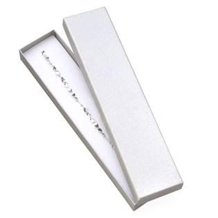 Dárková krabička na náramek - perleťově  bílá