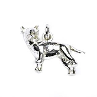Stříbrný přívěšek pes bulteriér