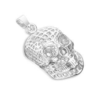 Ocelový přívěšek - lebka drátěná