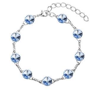 Náramek bižuterie se Swarovski krystalym, Light Sapphire