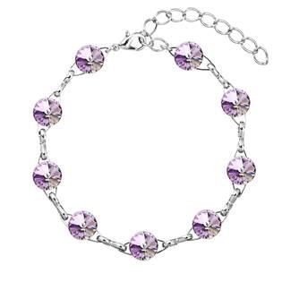 Náramek bižuterie se Swarovski krystaly, Violet