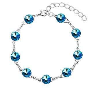 Náramek bižuterie se Swarovski krystaly, Bermuda Blue
