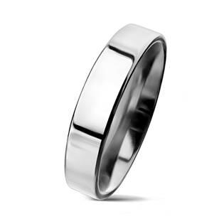Lesklý prsten chirurgická ocel, šíře 4 mm