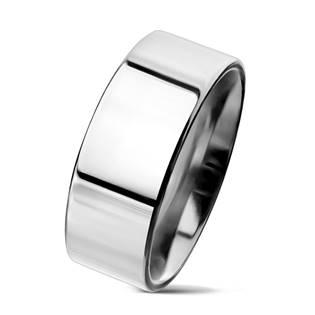 Lesklý prsten chirurgická ocel, šíře 8 mm
