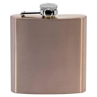 Ocelová kapesní lahev - placatka růžová 175ml v dárkovém balení