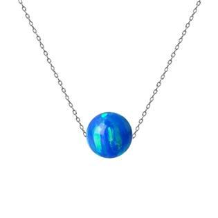 Ocelový náhrdelník s opálem - kulička 6 mm