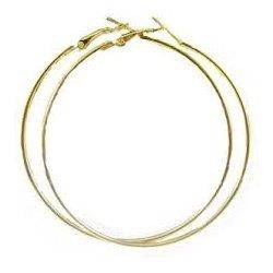 Náušnice - zlacené kruhy, průměr 70 mm