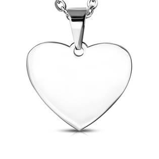 Ocelový přívěšek srdce 30 x 32 mm
