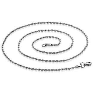 Ocelový řetízek kroucený, šíře 2,5 mm, délka 50 cm