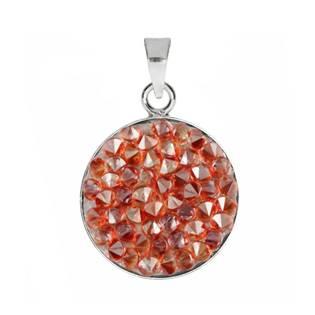 Přívěšek Crystals from Swarovski® 15mm, RED MAGMA
