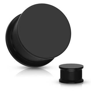 Plug do ucha silikon, černá barva