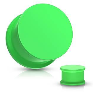 Plug do ucha silikon, zelená barva