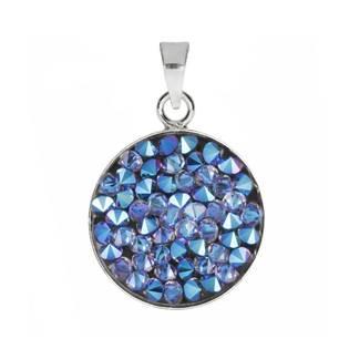 Přívěšek Crystals from Swarovski® 15mm, BLUE SHIMMER