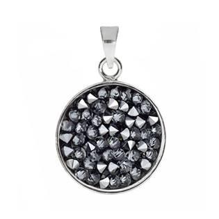 Přívěšek Crystals from Swarovski® 15mm, LIGHT CHROME