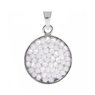 Přívěšek Crystals from Swarovski® 15mm, WHITE OPAL