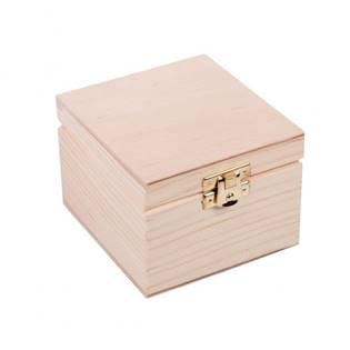 Dřevěná krabička 10 x 10 x 7 cm