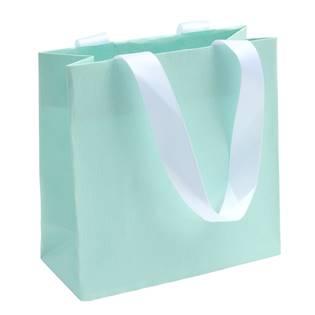 Modrá dárková taška s bílými uchy