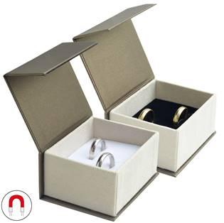 Dárková krabička na subní prsteny, magnetické zavírání