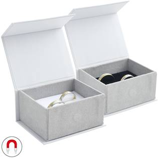 Dárková krabička na snubní prsteny, magnetické zavírání