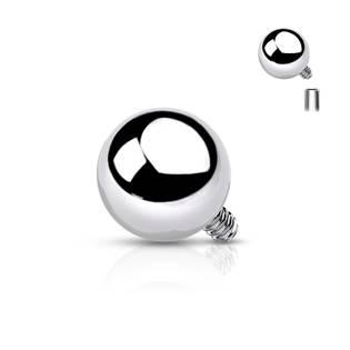 Ozdobná kulička k dermálu, průměr 6 mm