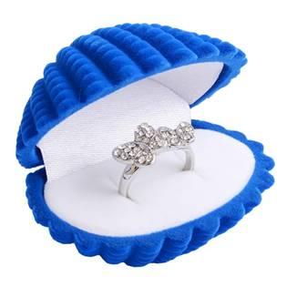 Dárková krabička semiš - lastura modrá