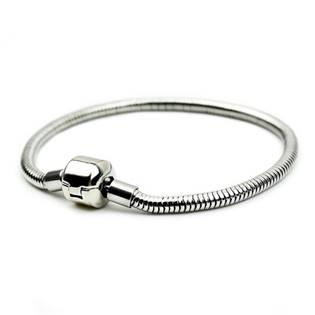 Ocelový náramek - had, délka 20 cm