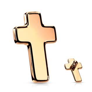 Zlacený zdobný křížek k dermálu