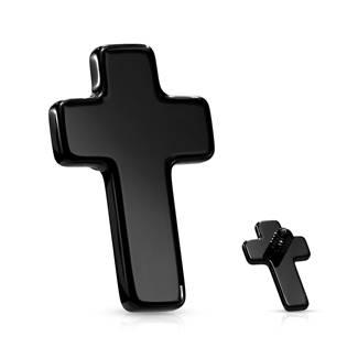 Černý zdobný křížek k dermálu