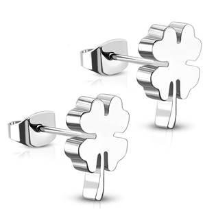 Ocelové náušnice čtyřlístky