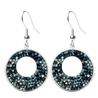 Náušnice VICTORY Crystals from Swarovski® BERMUDA BLUE PEPPER