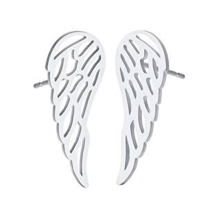 Ocelové náušnice andělská křídla