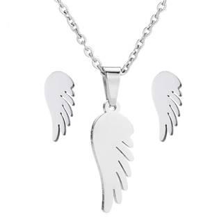 Set šperků z chirurgické oceli - křídla