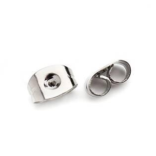 Náušnicový puzetový uzávěr ocelový 4,5 x 6 mm - 1 kus
