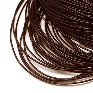 Kožená šňůrka kulatá hnědá, tl. 1,5 mm