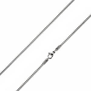 Ocelový řetízek čtvercový, tl. 1,2 mm, délka 40 cm
