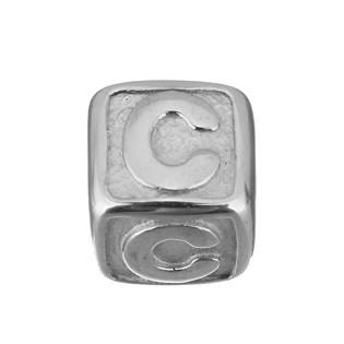 """Navlékací ocelový přívěšek korálek - písmeno """"C"""""""