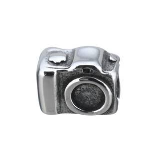 Navlékací ocelový přívěšek korálek - fotoaparát
