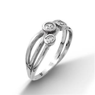 Stříbrný prsten se 3mi zirkony vel. 53