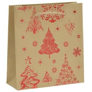 Vánoční dárková taška - červený motiv