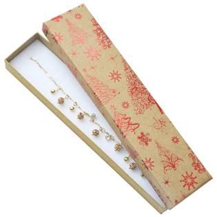 Vánoční dárková krabička na náramek - červený motiv