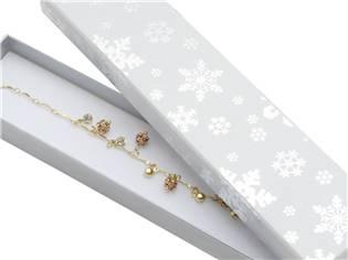 Vánoční dárková krabička na náramek - bílá