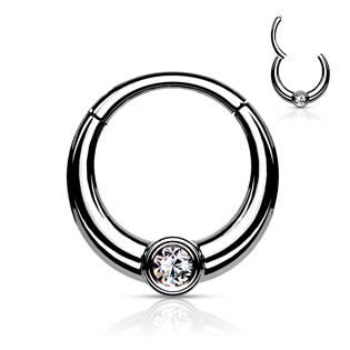 Ocelový piercing do nosu - tragus / helix / septum