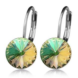 Ocelové náušnice s krystaly Swarovski®, LUMINOUS GREEN