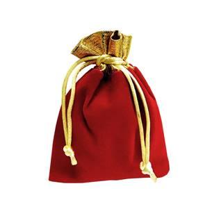 Semišový dárkový sáček vánoční 70 x 90 mm