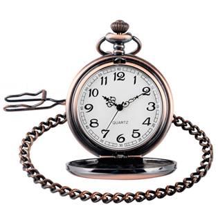 Kapesní hodinky otevírací měděné - cibule